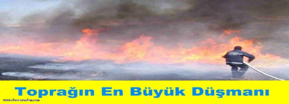 Anız, Tarla, Bahçe, Orman Yangınlarına Dikkat!...
